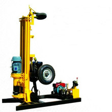 11KW Wheel Borehole Portable Water Well Drilling Rig Machine