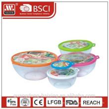 Plastique rond alimentaire Container(0.2L)