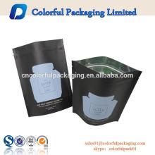 o papel ziplock resealable do produto comestível levanta-se o malote com impressão do logotipo