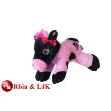 ICTI Audited Factory de alta calidad de promoción personalizada de vaca de color rosa juguetes de peluche