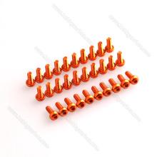 Parafusos de soquete personalizados da cabeça do botão do alumínio 7075 para zangões