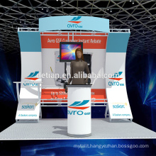 Detian offer small backdrop 3x3 trade show booth portable exhibition stand design