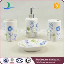 Kundenspezifisches Logo-Abziehbild-keramisches Badezimmer-Zusatz-Satz