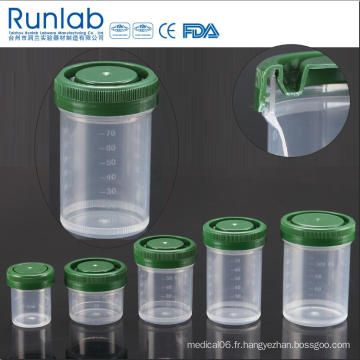 Conteneurs d'échantillons d'histologie de 90 ml enregistrés par la FDA