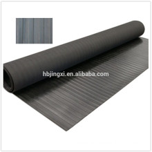 1830mm Width Black Ribbed Rubber Mat Rolls for Vehicles