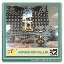 Poliéster sofá del Chenille chenille cortina del telar jacquar de la tela