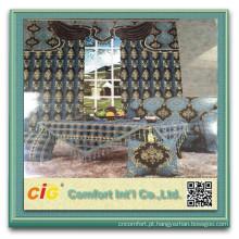 Tecido de cortina do jacquard chenille sofá Chenille tecido poliéster