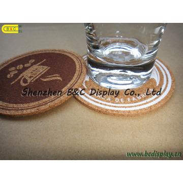 Cork Cup Pad, Set de table en liège, Cork Coaster Set, Dessous de verre en liège (B & C-G073)