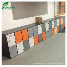 Wood color storage phenolic locker for hotel cabinet