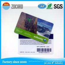 Chip en blanco de la tarjeta de viruta en blanco del PVC de la tarjeta inteligente 1k