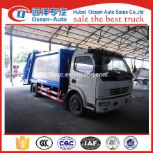 Dongfeng 8cbm pequeño camión de basura para la venta
