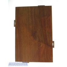 Feuille de revêtement en bois en aluminium massif