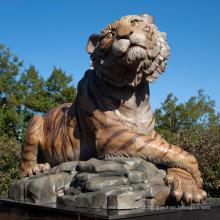 Paisagismo jardim estátuas escultura em pedra tigre de mármore escultura