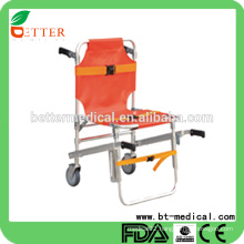 High quality Aluminum Alloy folding Stair chair Stretcher with wheels