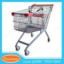 107L european style supermarket shopping trolleys