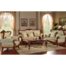 Sofá de casa com mesa lateral e mesa de café (yf299)