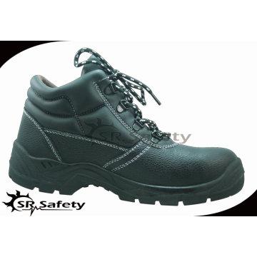 SRSAFETY 2015 промышленная безопасность обувь тиснение корова сплит кожа безопасности обувь черные стали безопасности обувь горячей продажи
