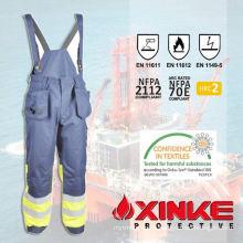 xinke fire retardant safety men welding bib overalls for worker