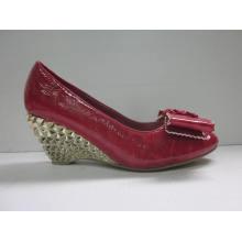 2016 Fashion High Heel Chuncky Ladies Dress Shoes (HCY03-106)