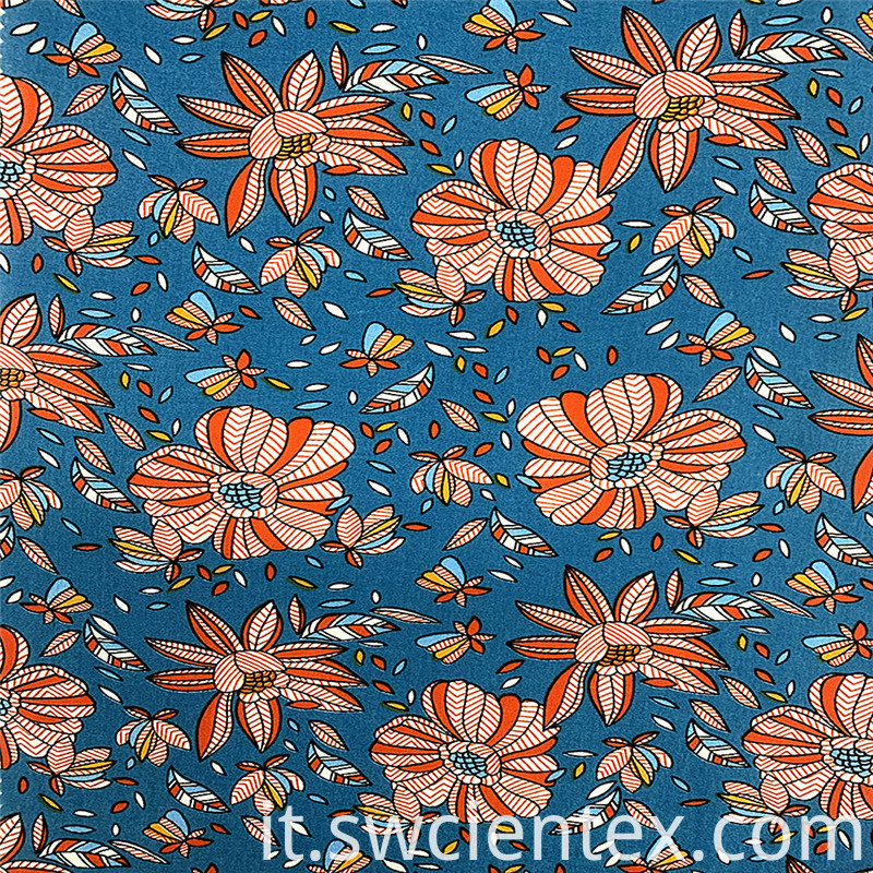 100% Rayon Material Ladies Summer Dress Fabrics
