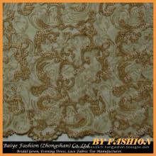 Fils d'or Broderie Lace Fabric Use Accueil Mode et robe de mariée Dentelle No.CA406