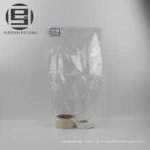 Tamanho personalizado auto selo transparente sacos lisos