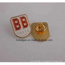 Emblema macio de brilho do ouro do esmalte, uso do partido da empresa (GZHY-KA-009)