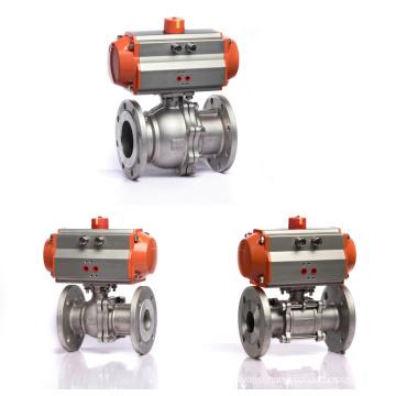 Q641F-16C Flange Series Cast Steel DN15~200 Water Pneumatic Ball Valve