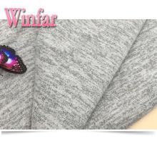 Rayado cepillado poliéster spandex suéter tejido de punto Hacci