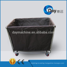 HM-25 stainless steel frame linen trolleys with Oxford bag