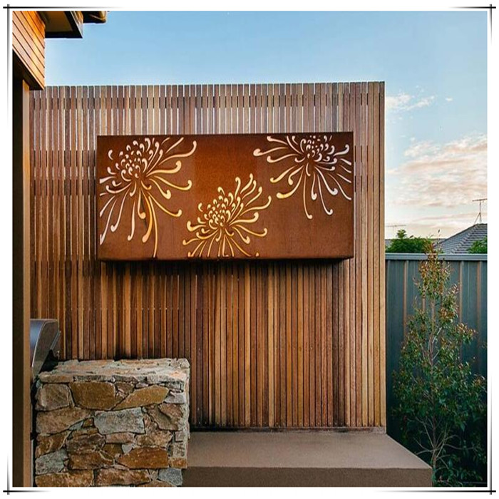 Corten Steel Wall Screen