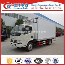 4x2 DFAC 3 Toneladas van camión frigorífico para carne y pescado