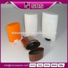 SRS vara desodorante 15g 50g 75g vazio ronda pet produtos para skincare e PP gel tubo tubo recipiente enchimento garrafa de plástico
