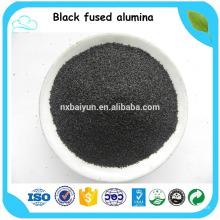 Alúmina fundida negra / piedra de corindón para arena de voladura fabricada en China