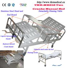 2-manivela manual de la cama médica (THR-MB216)