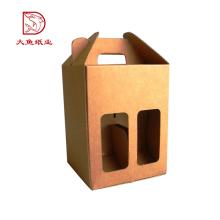 Made in China neue quadratische Lebensmittel Jahrgang Weinflasche Karton Box
