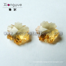 Loose Jewelry Snowflake Shape Crystal Glass Beads