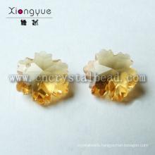 Loose Jewelry Snowflake Shape Crystal Glass Beads