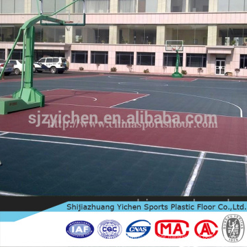 Outdoor basketball court used high quality rubber mats