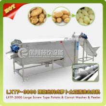 Large Type Spiral Vegetable Washer&Peeler, Potato Washing, Peeling Machine Lxtp-3000