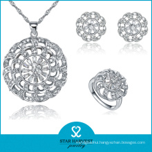 Promotional Plain Silver Jewellery Set with Cheap Price (J-0059)
