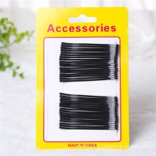Senhora moda cartão embalado acessórios de cabelo preto de metal (je1042)