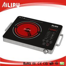 Hergestellt in China Edelstahlgehäuse mit Griff Elektrischer Infrarotkocher
