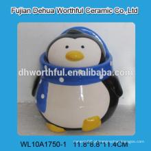 2016 novo estilo único potenciômetro cerâmico do tempero na forma do pinguim