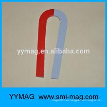 Imán de U-Tipo pintado rojo y blanco de Alnico del molde
