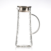 Heat Resistant Borosilicate Glass Water Pitcher / Carafe / Jug with Stainless Steel Lid for Homemade Juice & Iced