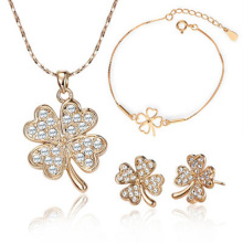 925 Sterling Silver Jewelry Set Gold Plating