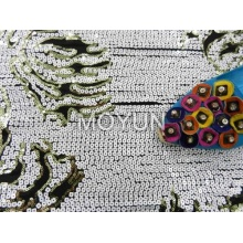 POLY KNITTING WITH 3MM +4MM SQUARE SEQUIN EMBROIDERY 50 52""