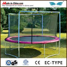 Enclosed Round Jumsmart Big Air Trampoline