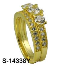 Самый последний серебряный обручальное кольцо ювелирных изделий способа конструкции 925 (S-14338Y. JPG)